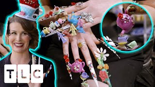 Lexi Creates A Whole Tea Party On Client's Nails With A Mini Teapot Pouring Real Tea! | Unpolished