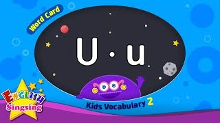 "Kids vocabulary compilation ver.2 - Words Cards starting with U, u - Repeat after ""Ting (sound)"""