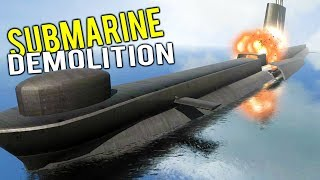 INSIDE A NUCLEAR SUBMARINE AS IT EXPLODES! Total Destruction Simulator - Disassembly 3D Gameplay