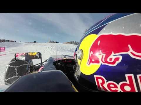 Verstappen's Kitzbuhel F1 snow demo - onboard