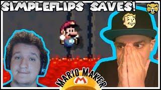 Shoutouts To SimpleFlips! 100 Man Super Expert Super Mario Maker