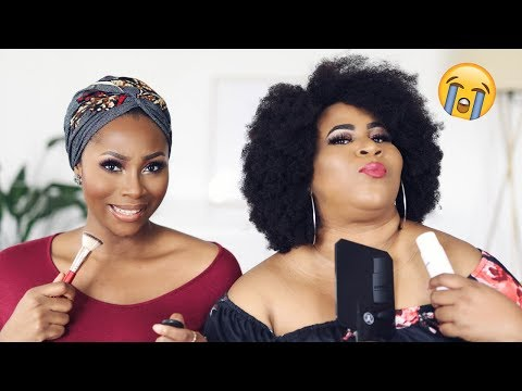 DOING MY MAKEUP IN MY NATIVE LANGUAGE (IGBO) WITH CHIGUL 😂 | DIMMA UMEH