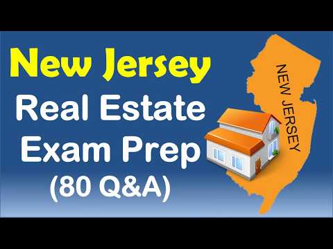 Jersey  Real Estate Exam  Practice  with 80 Questions and Answers