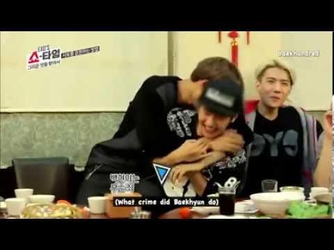140109 EXO Showtime 7 -  Kai Hitting Baekhyun