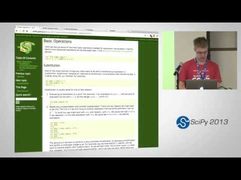 Image from Symbolic Computing with SymPy, SciPy2013 Tutorial, Part 2 of 6