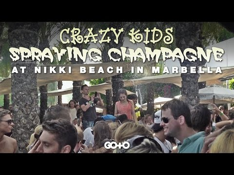 Travel Vlog: Crazy Kids at a Champagne Spray Party at Nikki Beach, Marbella