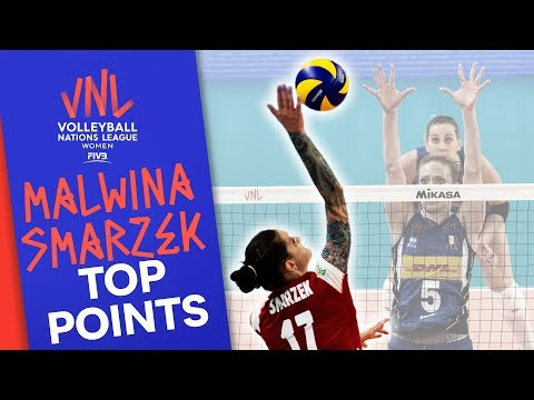 Malwina Smarzek's Top Points made vs. Italy   Volleyball Nations League 2019