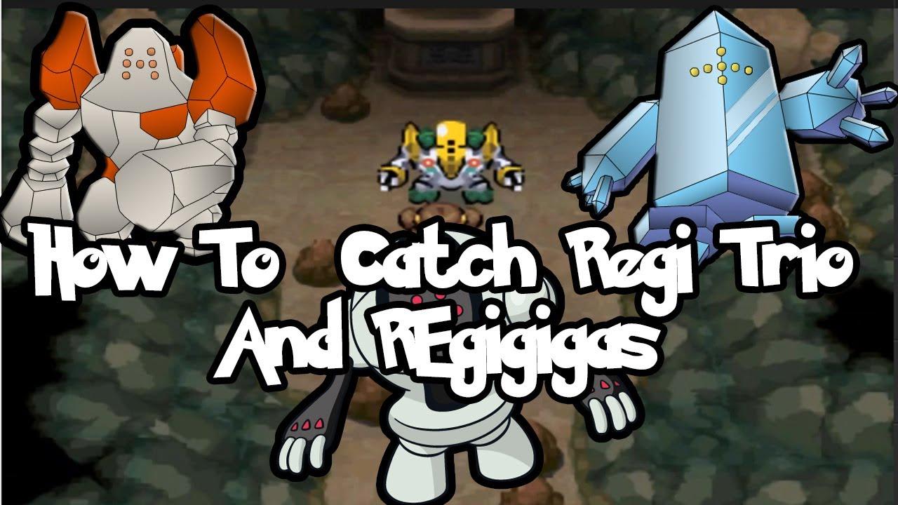 How To Unlock Door Without Key >> How & Where to Get/Catch Regirock, Registeel, Regice Trio and Regigigas in Pokemon Black 2 ...