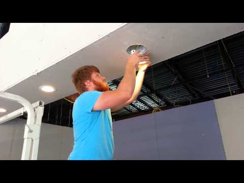 "Installing 6"" LED can lights with LumenCache"