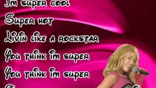 Hannah Montana 3 Supergirl With Lyrics
