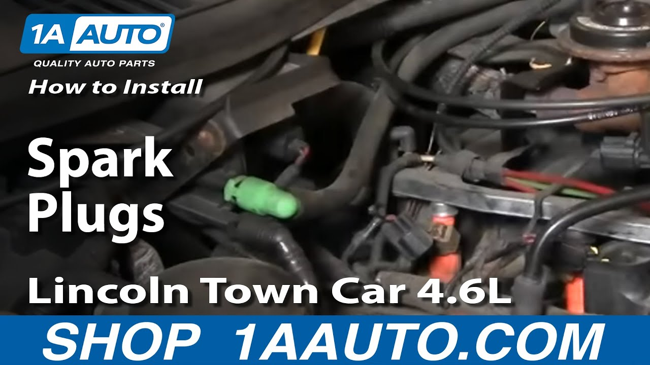 How To Install Replace Spark Plugs Lincoln Town Car 4 6l