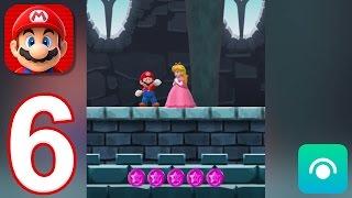 Super Mario Run - Gameplay Walkthrough Part 6 - World 6: Pink Coins (iOS)
