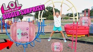 LOL Surprise BIGGER SURPRISE SCAVENGER HUNT FOR LOL DOLLS AT THE Outdoor PLAYGROUND Park FOR KIDS!