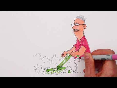 IPF - Man med gräsklippare