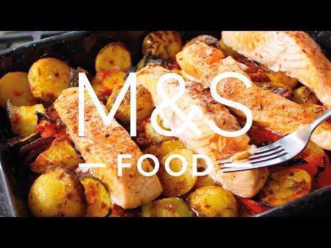 marksandspencer.com & Marks and Spencer Discount Code video: Chris' super salmon traybake | M&S FOOD