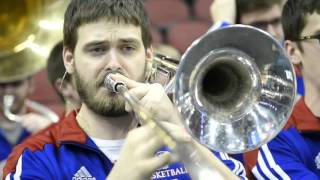 KU basketball pep band hits the road for NCAA Tournament