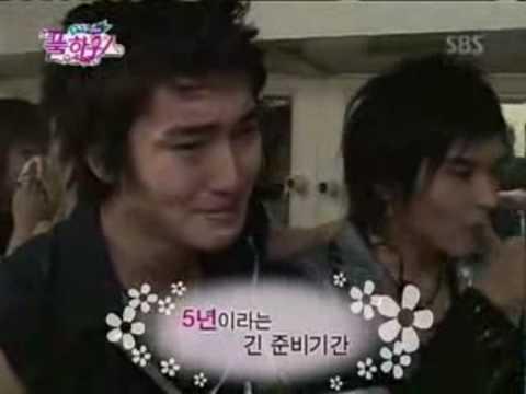 Super Junior crying