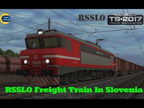 RSSLO Freight Train In Slovenia | SZ 363-006 | Train Simulator 2017