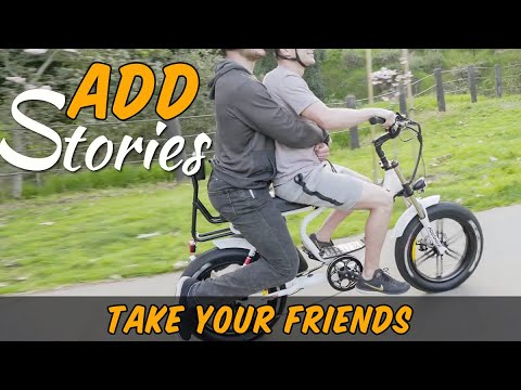 Addmotor M-66 R7 Step-Thru Electric Fat Bike Mini Moped Motorbike Take Your Friends
