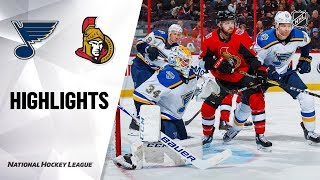 Blues @ Senators 10/10/19 Highlights
