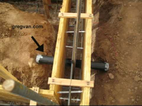 Concrete Footing And Plumbing Pipe Sleeve Building