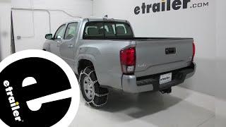 Titan Chain Mud Service Snow Tire Chains Installation - 2018 Toyota Ta