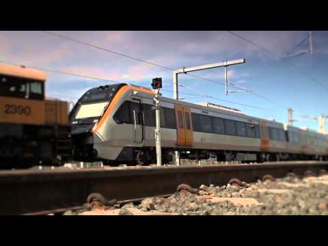 Realtime footage of the first QNGR train arriving at the new Wulkuraka Maintenance Facility