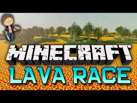 Minecraft: LAVA RACE! Mini-Game W/Mitch & Friends! - Smashpipe Games