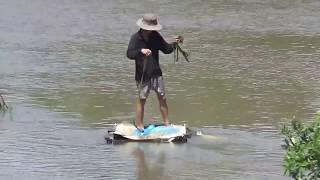 Anh Bá đi xem chài cá ở đập Trà Sư hay là đập Tha La - Tịnh Biên, An Giang 03/11/2017