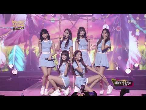 뮤직뱅크 Music Bank in JAKARTA - 여자친구 - 오늘부터 우리는 (Me Gusta Tu - GFRIEND). 20170930