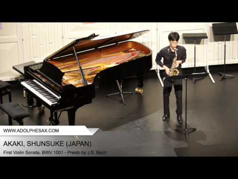 Dinant 2014 - AKAKI, Shunsuke (First Violin Sonata, BWV 1001 - Presto by J.S. Bach)