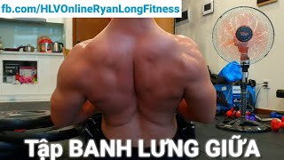 30 Phút ĐỐT CẠN 1000 Calo GỤC NGÃ Với Bài Tập LƯNG XÔ Cùng Ryan Long Fitness - Junie Training