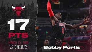 Bobby Portis was all over the court against the Memphis Grizzlies 03.15.18