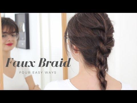 Four Ways To Faux Braid | Hair Tutorial