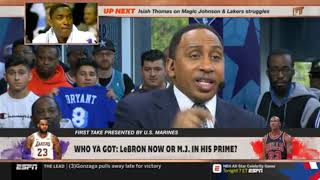 "Stephen A. Smith COMPLETELY CRUSHED ""Who Ya Got: LeBron now or M.J. in his prime?"" 