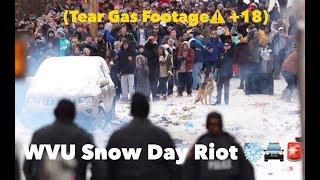 WVU Snow Day Riot  2019??🚔🚨(TEAR GAS WARNING?? +18)