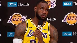 LeBron James Full Interview   2018 NBA Lakers Media Day Press Conference