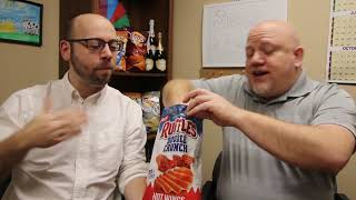 NEW Double Crunch Ruffles Review - Hot Wings and Zesty Cheddar   Taste Test