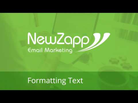 Formatting text inside your NewZapp Account