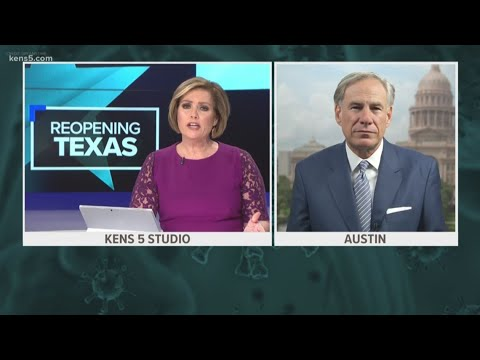 KENS 5 talks to Gov. Abbott about reopening Texas