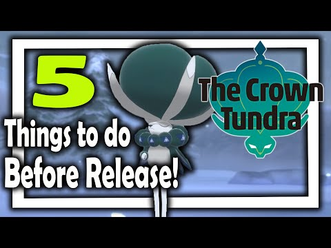 5 Things to do before the Crown Tundra release time later today | Pokemon Sword and Shield DLC 2