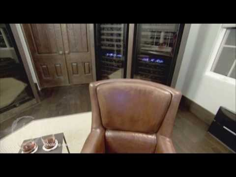 Man Caves Charlie Sheen Episode Featuring Vinotemp 142 Bottle Dual-Zone Touch Screen Wine Coolers