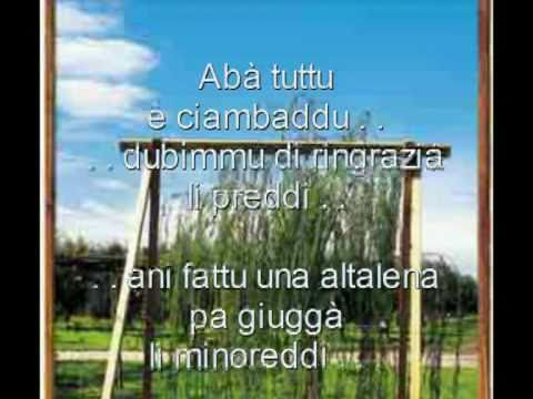 Canzoni Sassaresi   Latti Dozzi lu quarthieri americanu