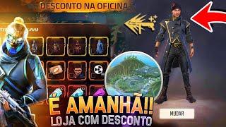 AMANHÃ!! NOVA LOJA COM DESCONTOS, ILHA DE TREINAMENTO, TROCA DE HABILIDADE E MAIS - FREE FIRE