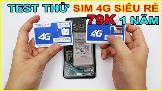 Mở hộp và Test thử SIM 4G Mobifone siêu rẻ 79k 1 Năm trên LAZADA, SHOPEE | MUA HÀNG ONLINE