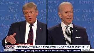 Biden campaign commits to virtual debate; Trump claims he won't participate