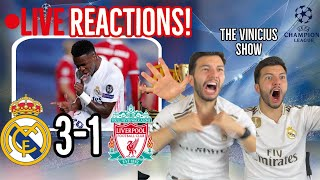 🚨[LIVE FAN REACTION] to Real Madrid 3-1 Liverpool! / THE VINICIUS SHOW!