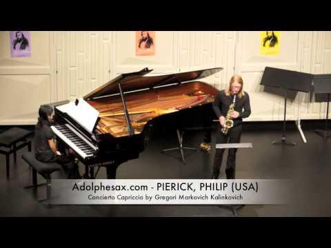 Dinant 2014 - Philip Pierick Concierto Capriccio by Gregori Markovich Kalinkovich