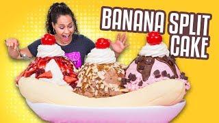 Banana Split CAKE!! | YO'S BIRTHDAY SPECIAL | How To Cake It