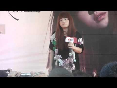徐佳瑩台南南方公園簽唱會 演唱